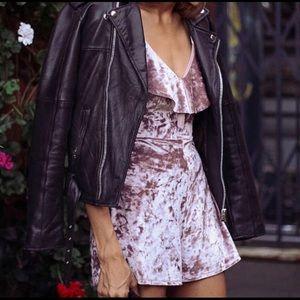 NWT Urban Outfitters Velvet Romper